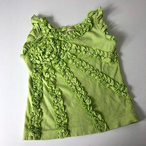 Lemon Loves Lime Green Ruffle Tank Top Cotton 754